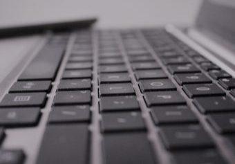 Laptoptoetsenbord tijdens Grip Op Leren bijles